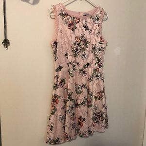 As U Wish pink floral mini dress- never worn!